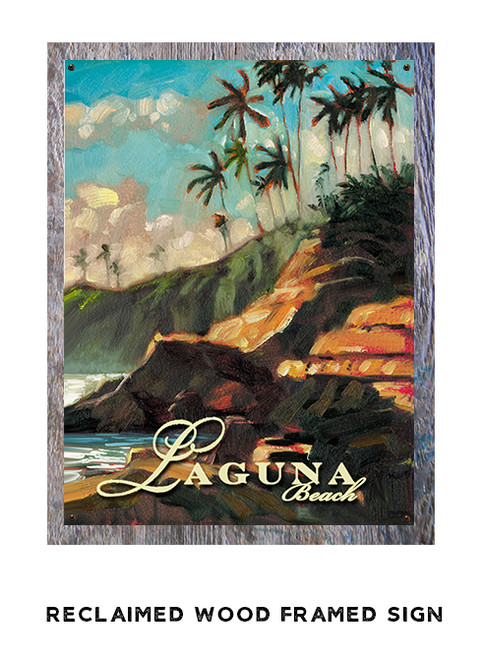 Laguna Beach Personalized Metal Sign
