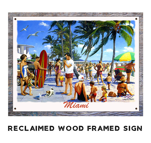 Miami Personalized Metal Sign