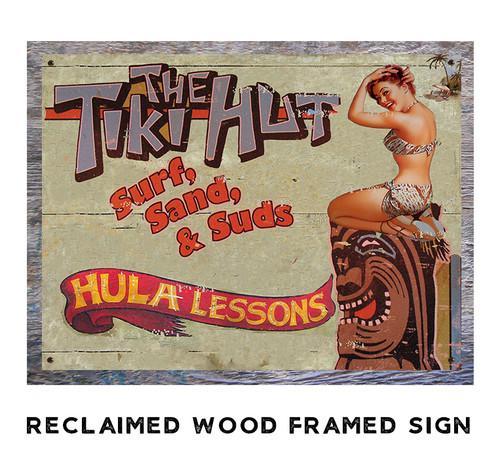 The Tiki Hut Metal Sign