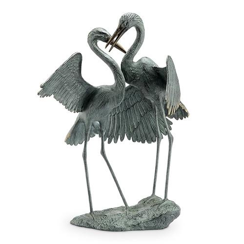 Gentle Embrace Heron Garden Sculpture
