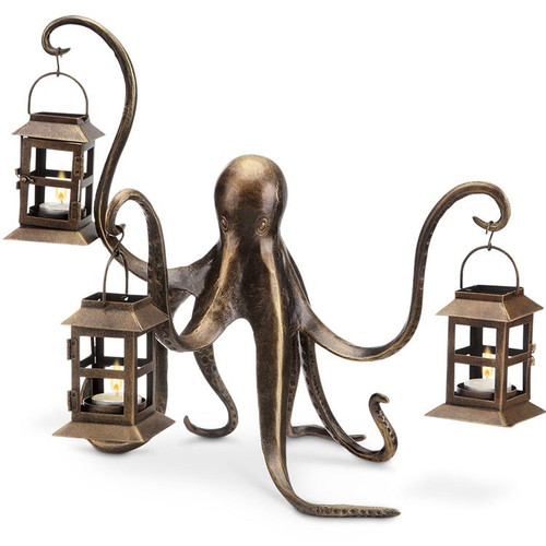 Octopus Hurricane Candle Holder