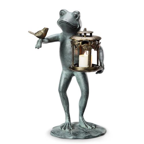 Frog and Bird Garden Lantern