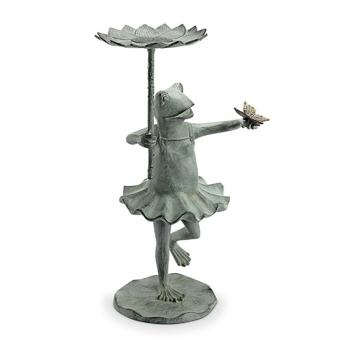 Frog Ballerina Birdfeeder with Butterfly