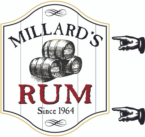 Rum Bar Sign - Personalized
