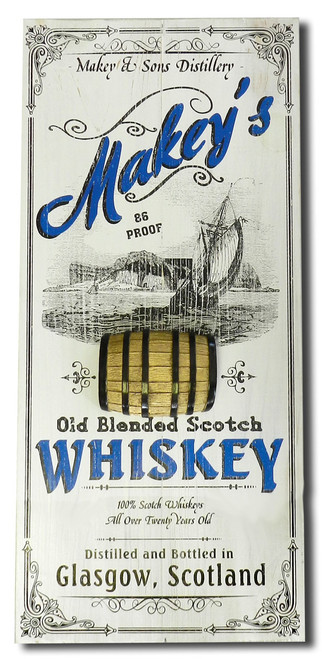 Scotch Vintage Plank Sign with Relief - Personalized