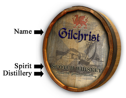 Scotch Quarter Barrel Sign - Personalized