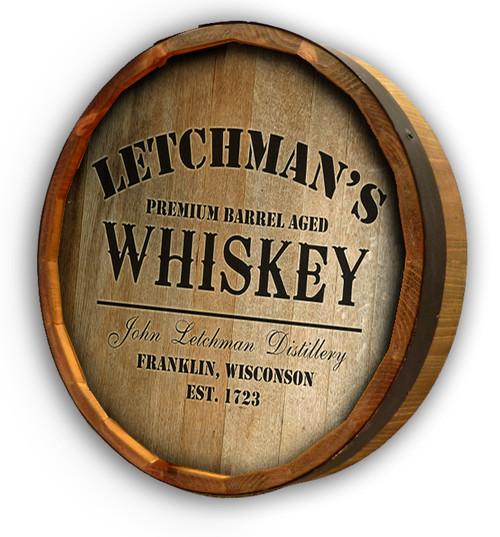 Distillery P5 Quarter Barrel Sign - Personalized