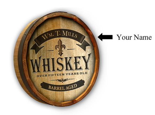 Whiskey Label 2 Quarter Barrel Sign - Personalized