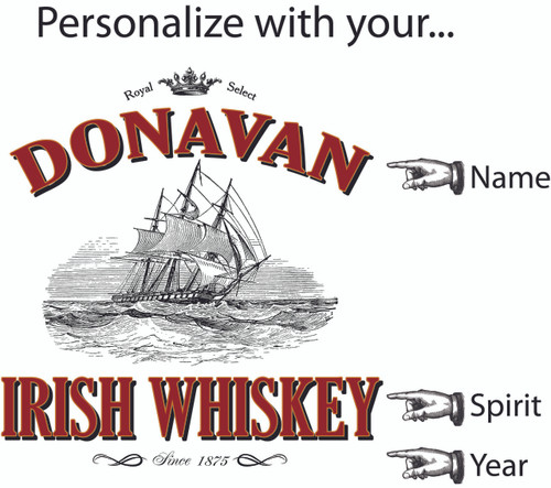 Barrel Head Lazy Susan -  Irish Whiskey - Personalized