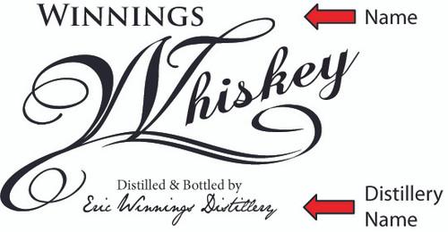 Whiskey Design Oak Barrel - Personalized