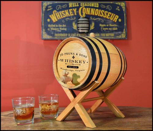 Classic Label Oak Barrel- Personalized