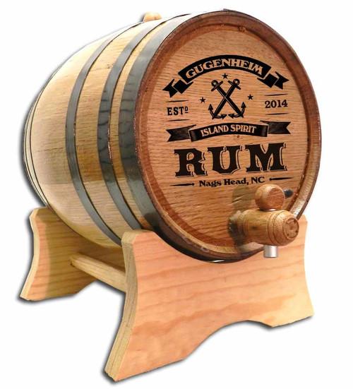 Anchor Rum  Oak Barrel- Personalized