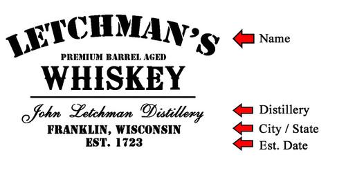 Whiskey Design Oak Barrel Head Sign - Personalized