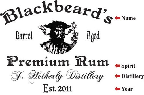 Blackbeard Distillery  Serving Tray - Personalized