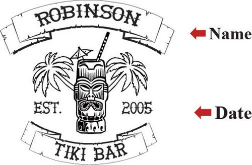 Tiki Bar  Serving Tray - Personalized