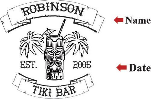 Tiki Bar  Serving Tray - Personalized