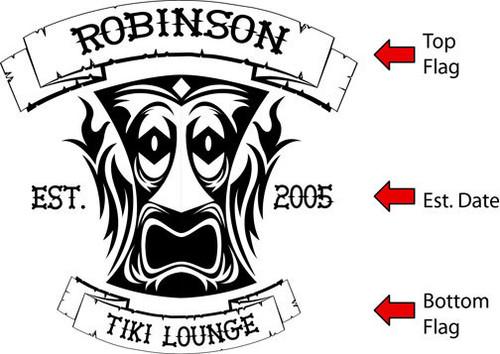 Tiki Lounge Quarter Barrel Serving Tray - Personalized