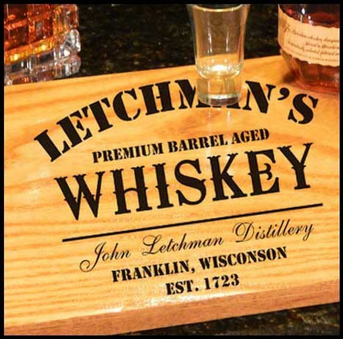 Whiskey Design Bistro Tray - Personalized