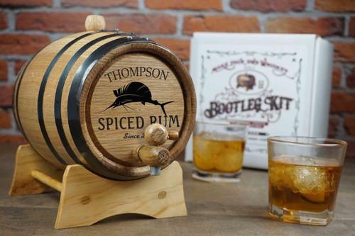Whiskey Barrel Bootleg Kit - Personalized - Sailfish