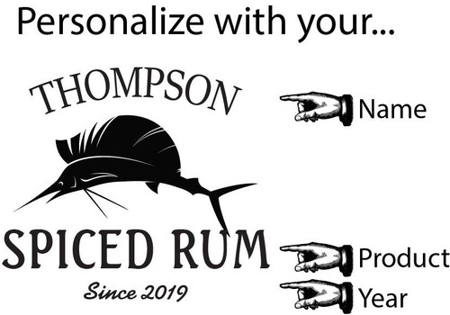 Barrel Head Lazy Susan - Sailfish - Personalized