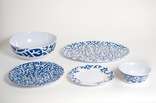 "CLOCKWISE: 11"" SERVING BOWL - 16"" PLATTER - 20"" SOUP/SALAD BOWL - 9"" SALAD PLATE - 11"" DINNER PLATE"