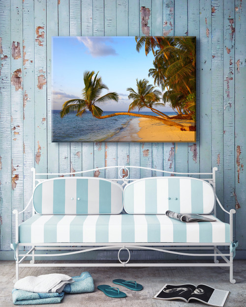 Golden Palms Outdoor Canvas Art