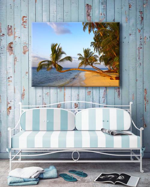 Golden Palms Outdoor Canvas Art