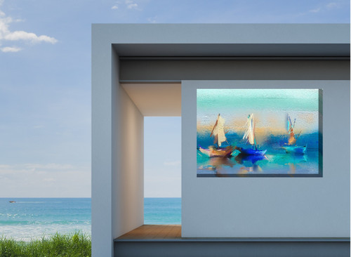 Cerulean Sea Outdoor Canvas Art