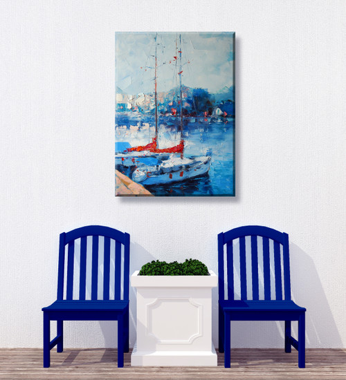 Yacht Club Outdoor Canvas Art