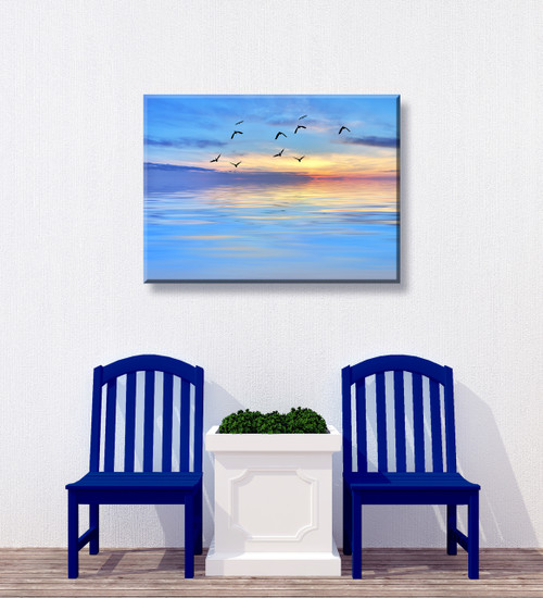 Evening Flight Outdoor Canvas Art