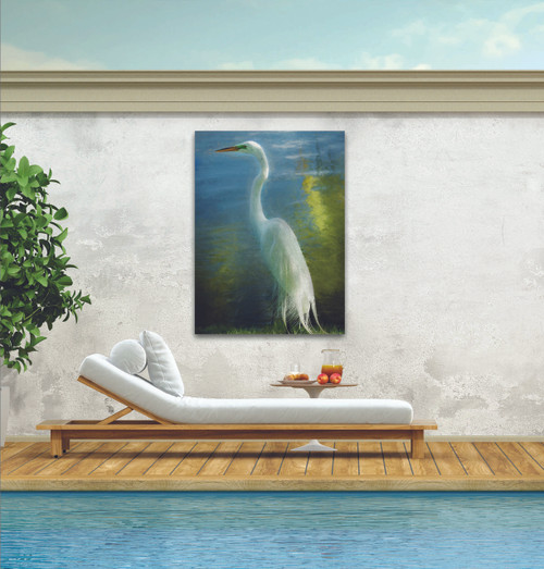 Poised Patience Outdoor Canvas Art