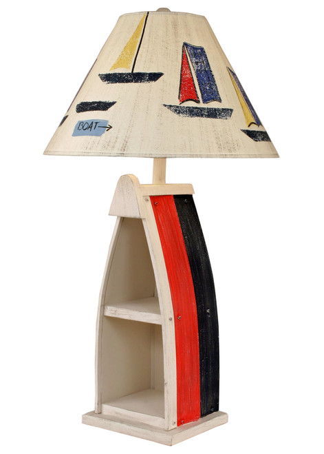 Cottage Primary Stripe Boat Table Lamp