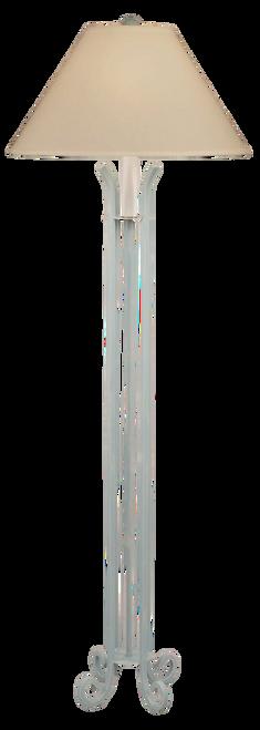 Weathered Atlantic Grey Iron 4 Footed Floor Lamp