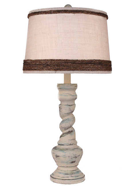 Shabby Summer Country Twist Table Lamp