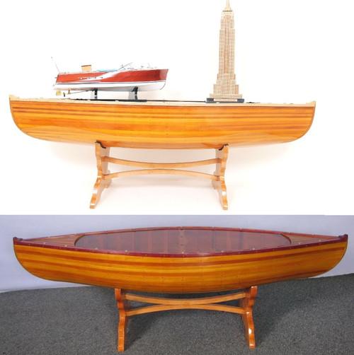 Wooden Canoe Table  5'