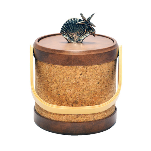Cork Ice Bucket with Shell Knob - 3qt