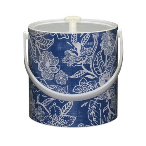 Blue Flowers Ice Bucket - 3qt