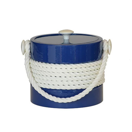 Blue with White Center Rope Ice Bucket - 3qt