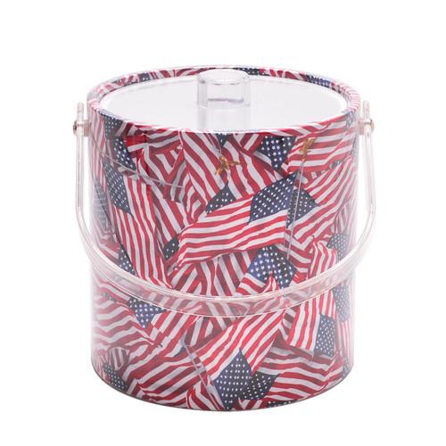 American Flag Ice Bucket - 3qt