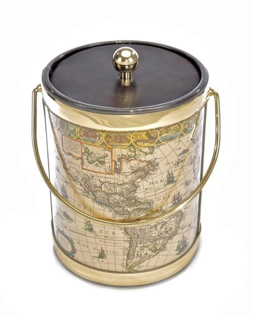 Nautical Map Ice Bucket -  5qt