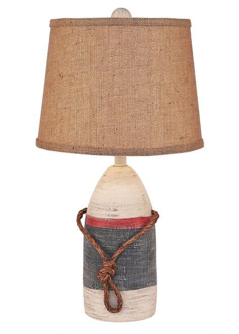 Primary Small Buoy with Rope Accent Lamp