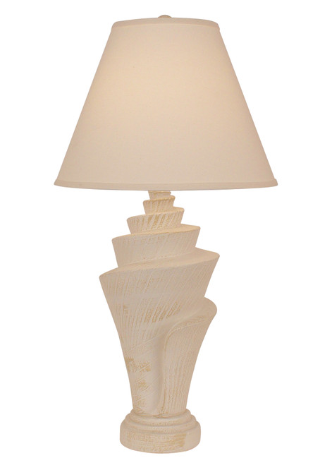 Two Tone Conch Shell Table Lamp