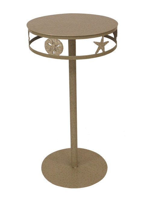 Sisal Drink Table with Multi Shell Band