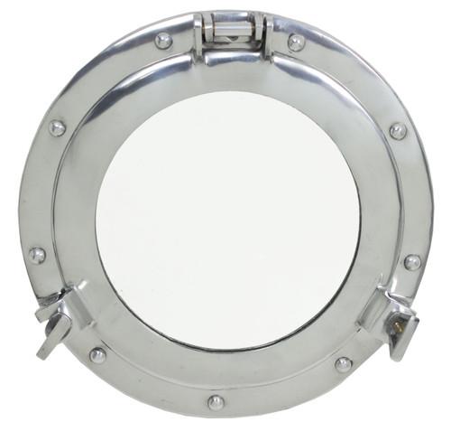 """Porthole Mirror - Polished Aluminum 20"""""""