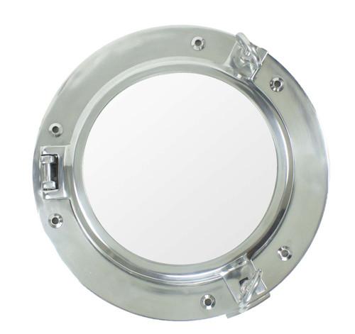 """Porthole Mirror - Polished Aluminum 15"""""""