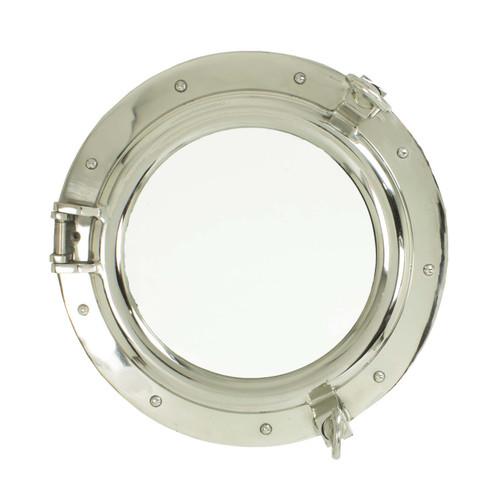 """Porthole Mirror - Polished Aluminum 17"""""""