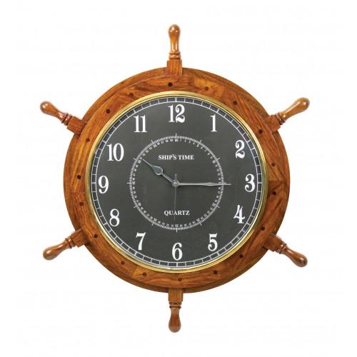"""Ship's Wheel Clock - 24"""""""