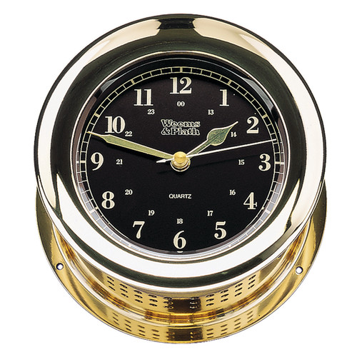 Atlantis Premiere Quartz Clock, Black (200501)
