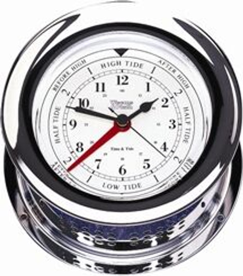 Chrome Plated Atlantis Time & Tide Clock (220300)