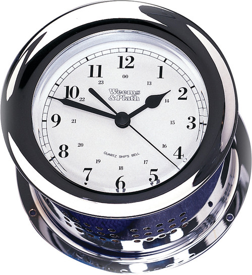 Chrome Plated Atlantis Quartz Clock (220500)